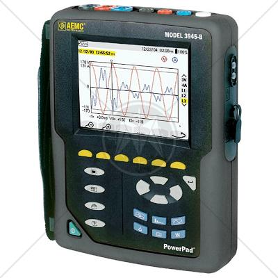 AEMC 3945 Power Pad 3-Phase Power Quality Analyzer