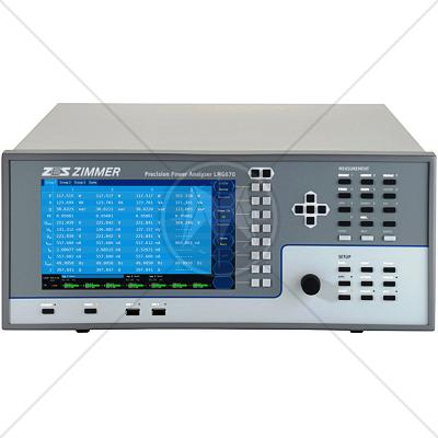 ZES Zimmer LMG670 Precision Power Analyzer � 1 to 7 Channels
